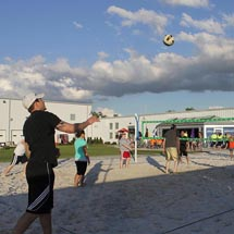 enjoy volleyball courts at CSC