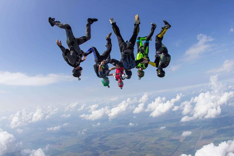 head-down-skydivers