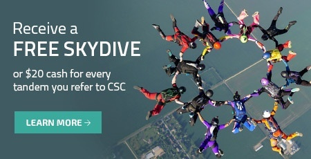 earn free skydives at chicagoland skydiving center